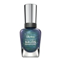 Sally hansen complete salon manicure nail color, black and blue - 2 ea