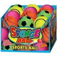 Sponge ball sports Sponge ball asst 24 pices - 24 ea