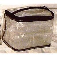 Sicara clear tall train case cosmetic bag - 1 ea