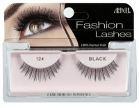 Ardell fashion eye lashes, 124 demi black style - 4 ea