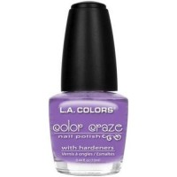 LA colors color craze nail polish, purple vivid - 3 ea