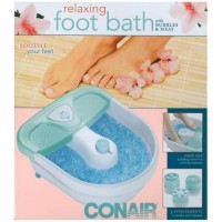 Conair relaxing foot bath with heat, bubbles and 3 attachments - 1 ea