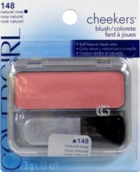 Covergirl cheekers blush 148, natural rose - 3 ea