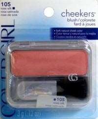 Cover girl cheekers blush, rose silk 105 - 3 ea
