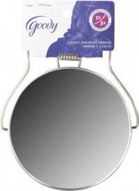 Goody 5 inches two sided metal shaving mirror - 3 ea