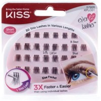 Kiss products ever ez trio lashes short - 30 ea, 4 pack