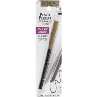 Loreal pencil perfect self advancing eyeliner, ebony  - 2 ea