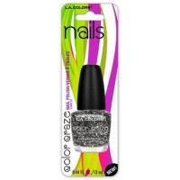 LA colors nail polish sparkling diamonds - 3 ea