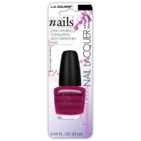 LA colors nailpolish lacquer pink sizzle - 3 ea