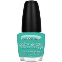 LA colors color craze nail polish, sea foam - 3 ea