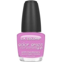 LA colors color craze nail polish, pink bubbles - 3 ea