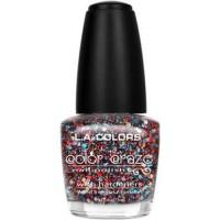 LA colors color craze nail polish, confetti - 3 ea