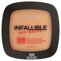 Loreal paris infallible pro matte pressed powder, natural beige - 2 ea