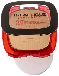 Loreal paris infallible pro matte pressed powder, sun beige - 2 ea