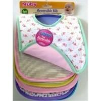 Nuby bib knit fiber fill rever - 6 ea