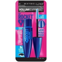 Maybelline volume express the rocket waterproof mascara, very black - 6 ea