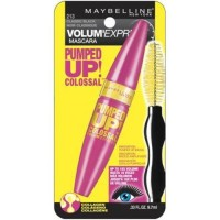Maybelline volume express pumped up colossal washable mascara, classic black - 6 ea