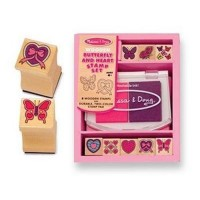 Melissa and doug butterfly and heart stamp set - 1 ea