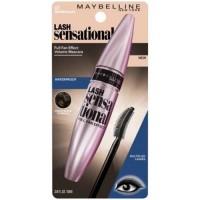 Maybelline lash sensation mascara wateproof, brownish black - 6 ea