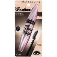 Maybelline lash sensational mascara washable, blackest black - 6 ea