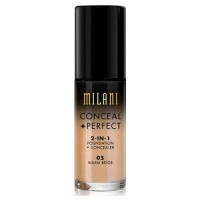 Milani perfect foundation plus concealer, warm beige - 3 ea