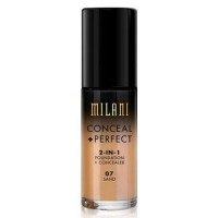Milani perfect 2 in one foundation plus concealer, tan - 3 ea