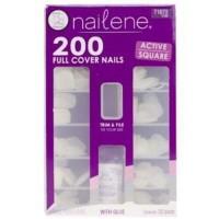 Nailene full cover short square, 200 count - 2 ea