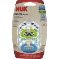 Nuk natural shape fashion patterns orthodontic pacifier - 4 ea