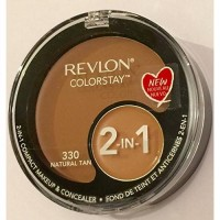Revlon colorstay compact makeup and concealer, natural tan - 2 ea