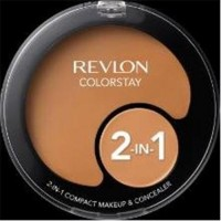 Revlon colorstay compact makeup and concealer, toast - 2 ea