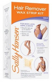 Sally hansen hair remover wax strip kit for body, legs, arms and bikini - 4 ea