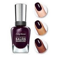 Sally hansen complete salon manicure nail color, pat on the black - 2 ea