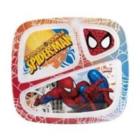 Zak design spider man spio 0010 3 section plate set - 3 ea