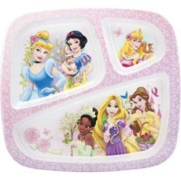 Zak design disney princessr graphics, section plate - 3 ea