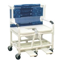 MJM International Bariatric Shower Chair With Soft Seat Deluxe Enlongated, 131-5-SSDE - 1 ea
