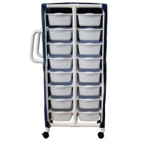 "MJM international Specialty Cart w/6 pull out tubs and mesh or solid vinyl cover, 20""x15""x5"" - 1 ea"
