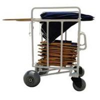 MJM international All Terrain Chair And Umbrella Cart, 785 - 1 ea