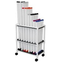 MJM International Therapy Therapy Rehab Weight Bars Mobile Storage Cart, TRWB-40C - 1 ea