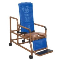 MJM international WoodTone Tilt-N-Space Reclining Shower Chair, WT193-TIS - 1 ea