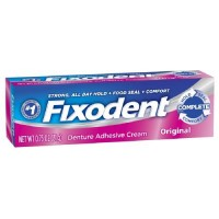 Fixodent denture adhesive cream, original, strong and long hold - 0.75 oz