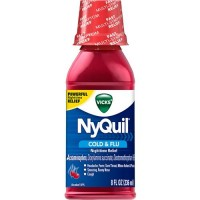 Vicks nyquil cold and flu nighttime relief cherry flavor liquid - 8 oz