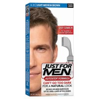 Just for men autostop foolproof hair color kit light-medium brown - 1 ea