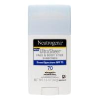 Neutrogena ultra sheer face and body spf 70 sunscreen stick - 1.5 oz