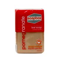 Soapbox bar soap, pomegranate - 8 oz