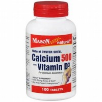 Mason Natural Oyster Shell Calcium 500 Mg With Vitamin D3 - 100 Tablets