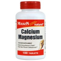 Mason Natural Calcium, Magnesium Tablets - 100 Ea